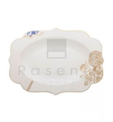PIP STUDIO - ROYAL WHITE piatto ovale 40 cm.