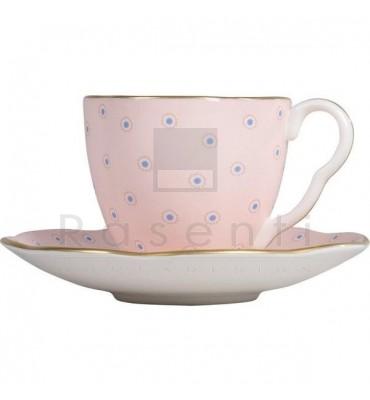 WEDGWOOD - POLKA DOT TEA STORY coffee cup & saucer
