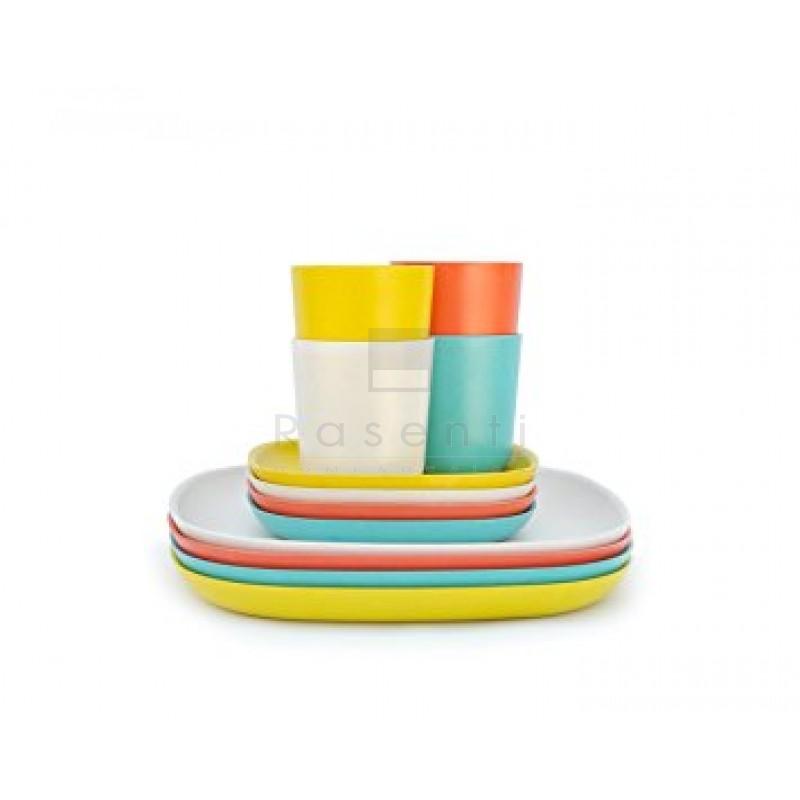 lunch set ekobo set piatti e bicchieri piatti tavola rasenti home design online store. Black Bedroom Furniture Sets. Home Design Ideas