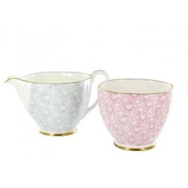 WEDGWOOD - CUCKOO TEA STORY cream and sugar
