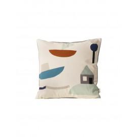 FERM - PARTY cushion white (seaside)