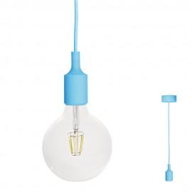 FILOTTO - lampada silicone a sospensione azzurro