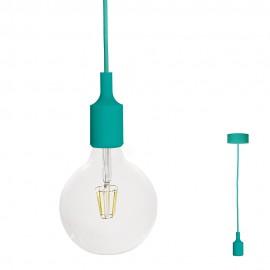FILOTTO - lampada silicone a sospensione blu smeraldo