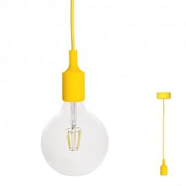 FILOTTO - lampada silicone a sospensione giallo