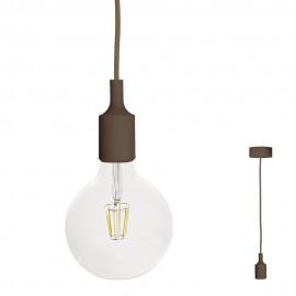 FILOTTO - lampada silicone a sospensione caffe