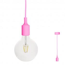 FILOTTO - lampada silicone a sospensione rosa