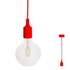 FILOTTO - lampada silicone a sospensione rosso