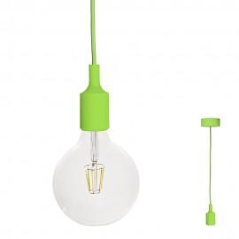 FILOTTO - lampada silicone a sospensione verde