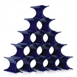 Kartell Infinity Portabottiglie di design blu