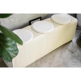 PAPIRHO PAPER BENCH WHITE