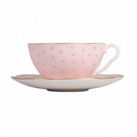 WEDGWOOD - POLKA DOT TEA STORY tea cup & saucer