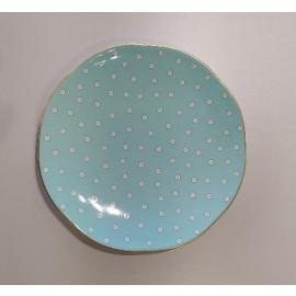 WEDGWOOD - POLKA DOT TEA STORY piatto dolce turquoise