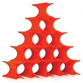 Kartell Infinity Portabottiglie di design arancio