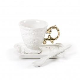 SELETTI I-WARES TAZZA CAFFE GOLD
